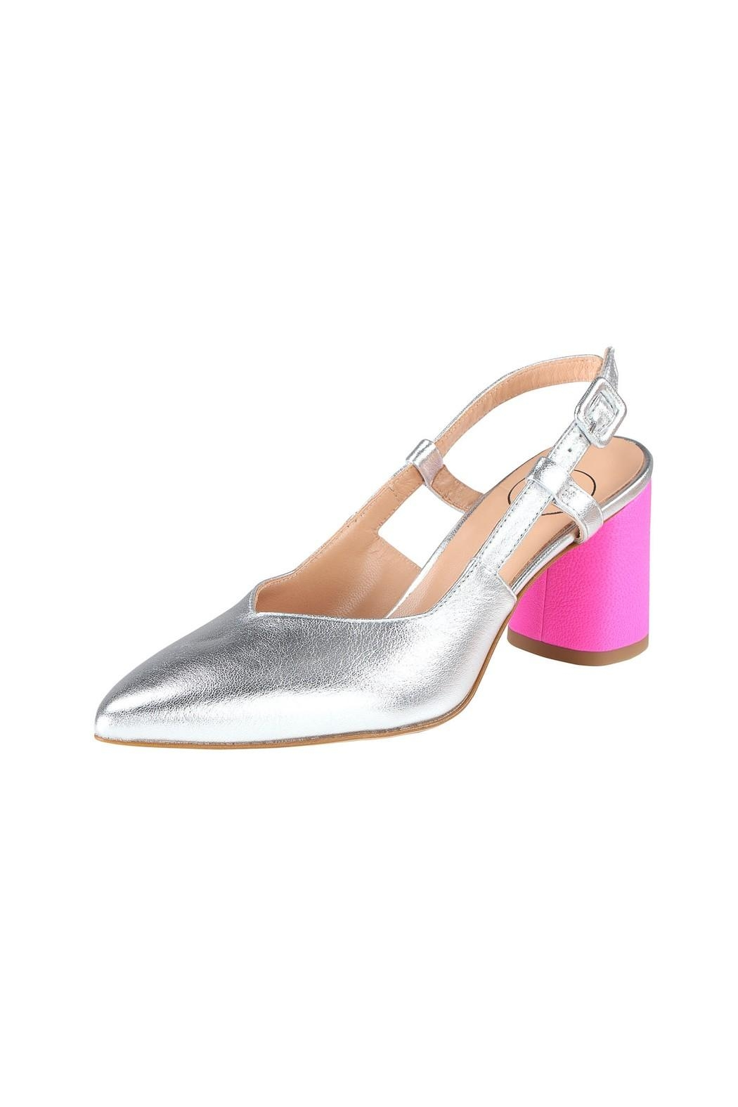 Pascucci Silver Pink Slingback - Front Full Image