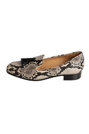 Pascucci Snakeskin Leather Loafers - Front cropped