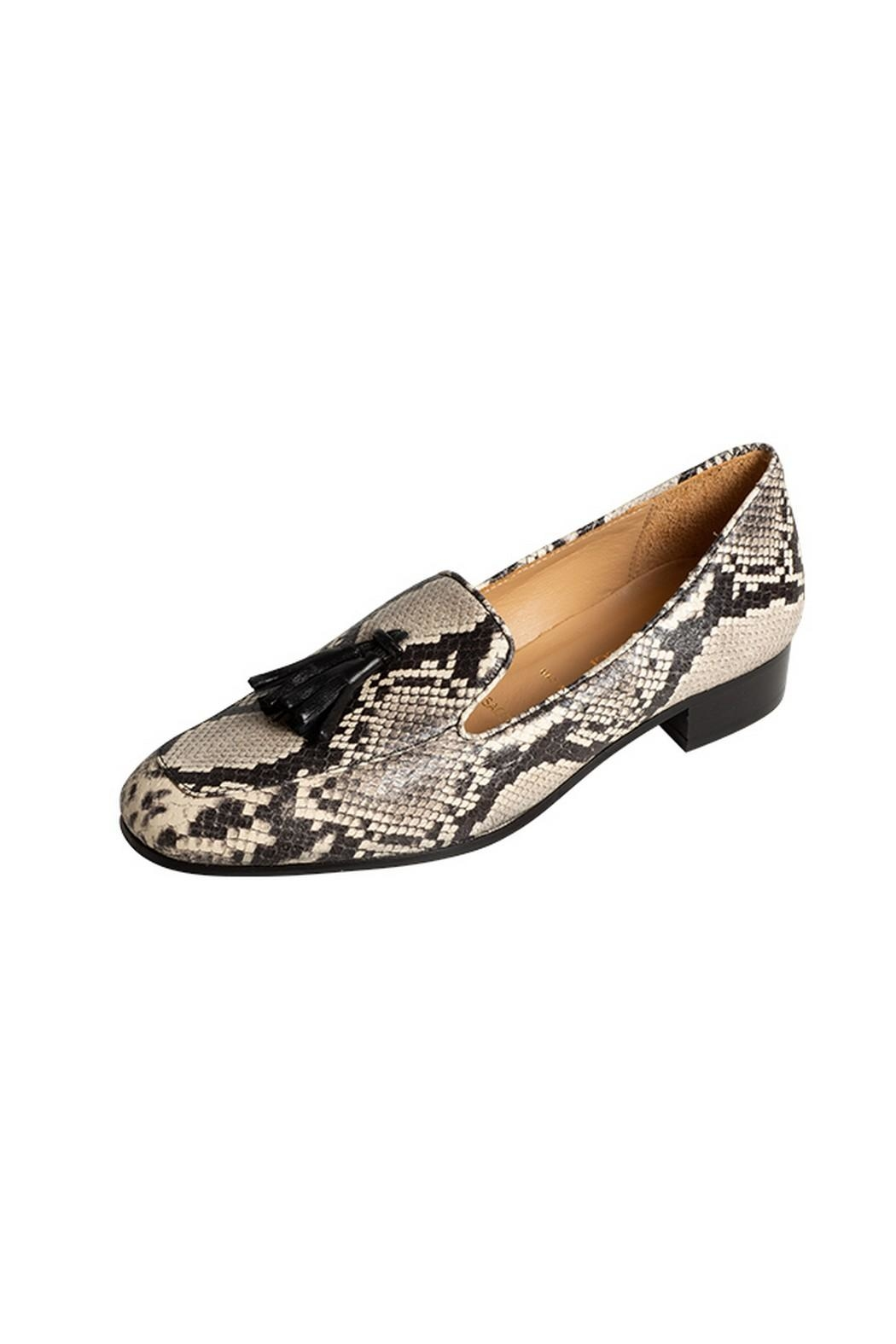 Pascucci Snakeskin Leather Loafers - Front Full Image