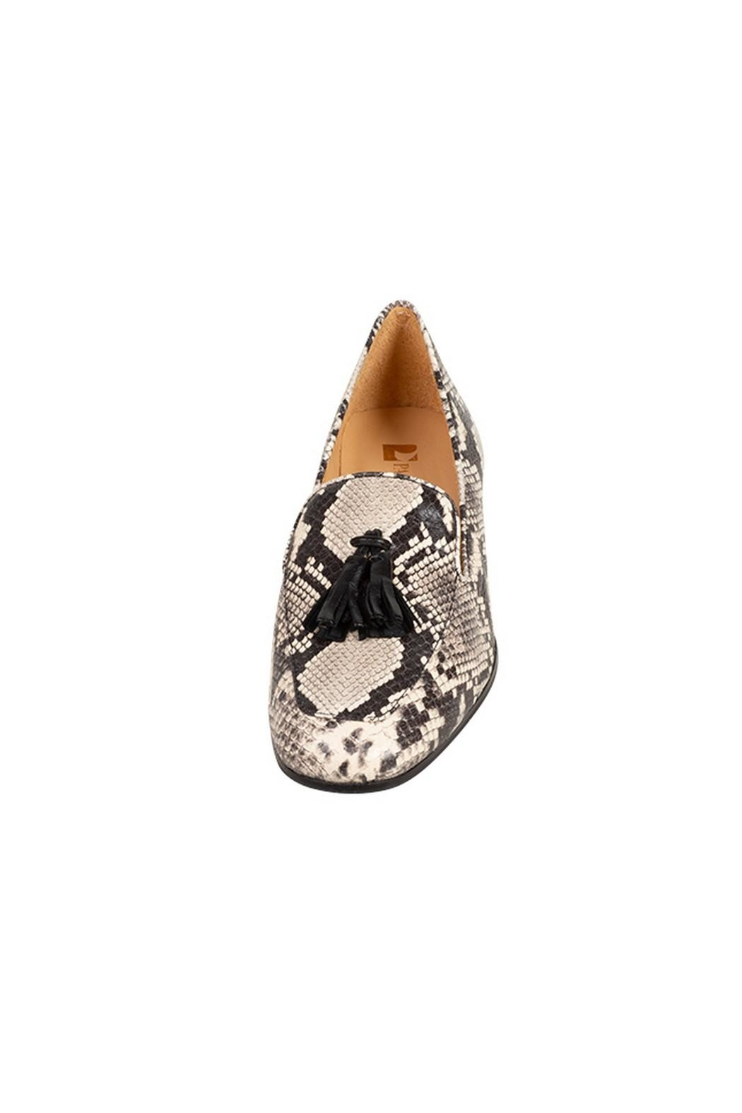 Pascucci Snakeskin Leather Loafers - Side Cropped Image