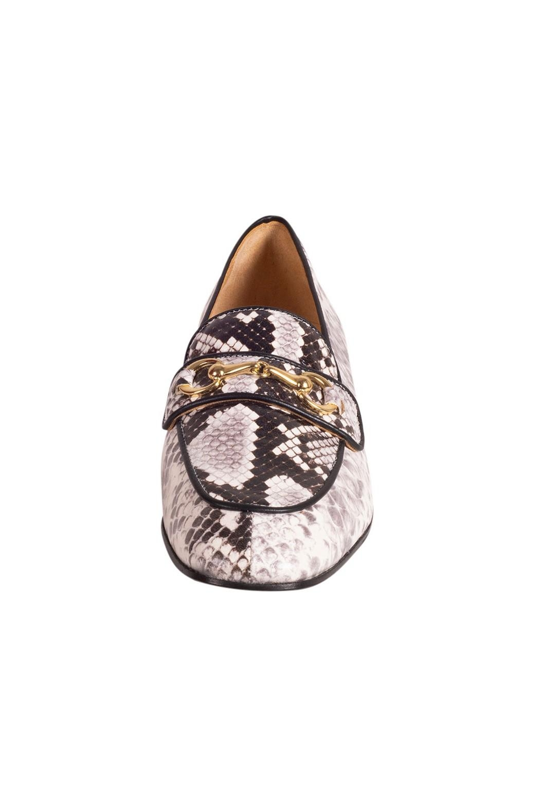 Pascucci Snakeskin Print Loafer - Side Cropped Image