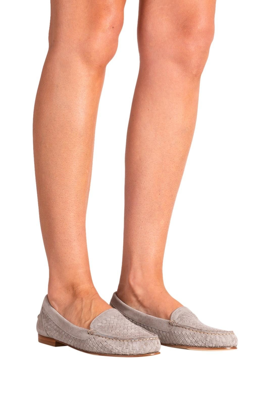 Pascucci Stone Suede Loafer - Back Cropped Image