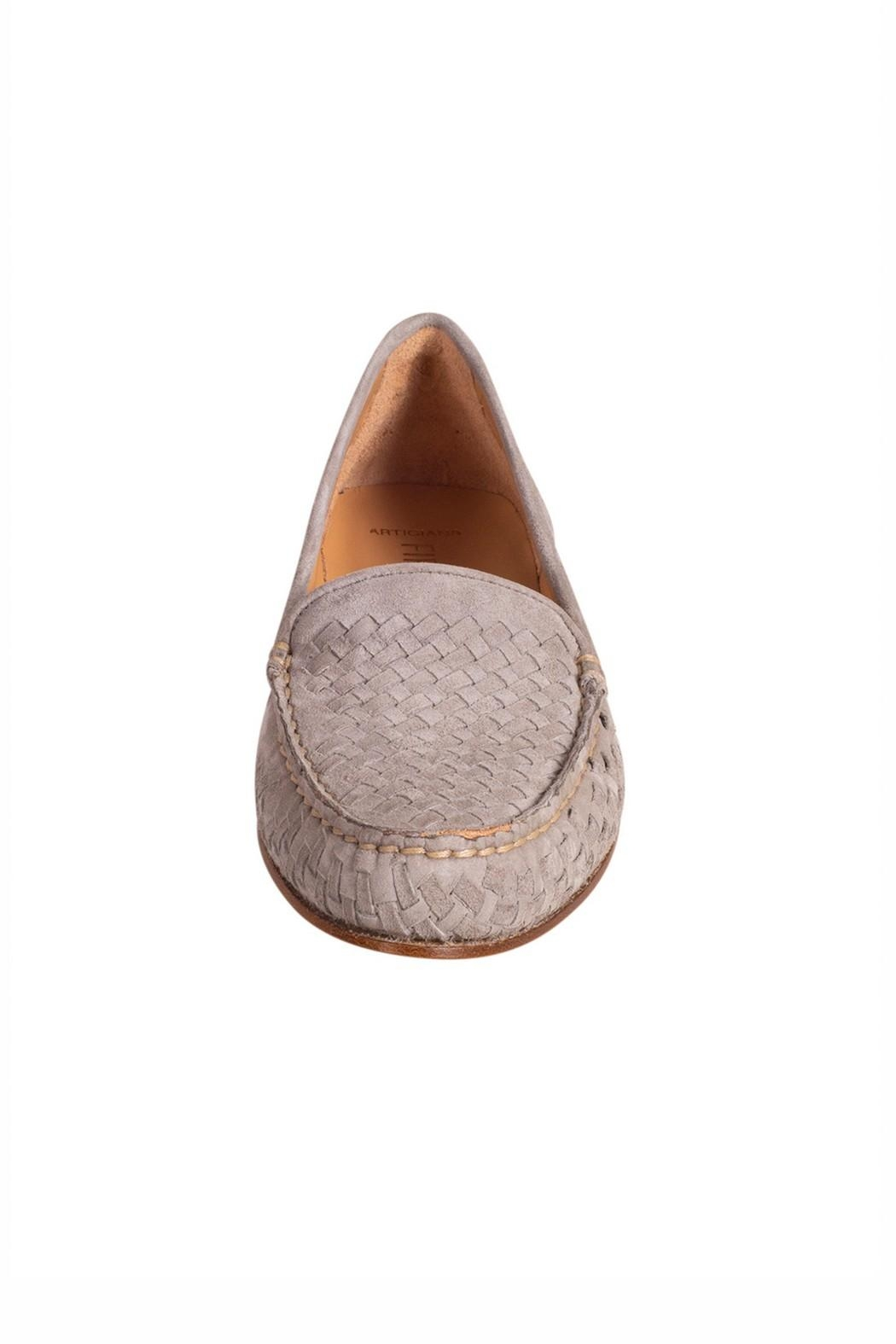 Pascucci Stone Suede Loafer - Side Cropped Image
