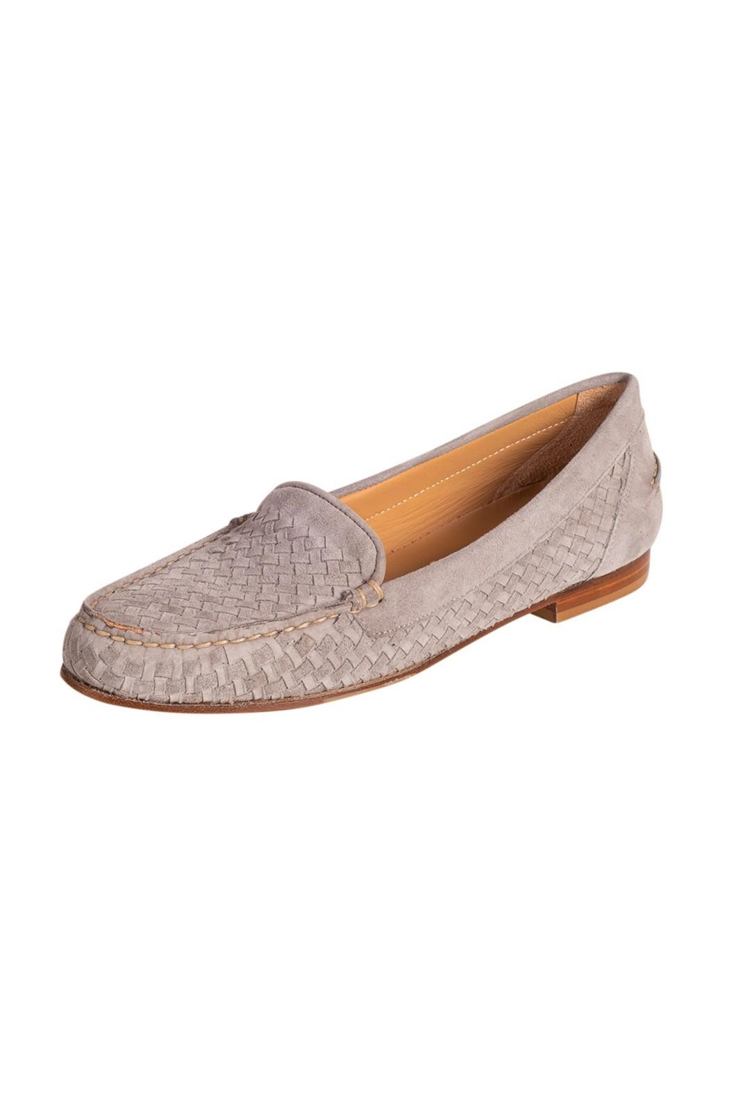 Pascucci Stone Suede Loafer - Front Full Image