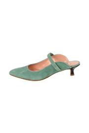 Manu Mari Suede Green Mule - Product Mini Image