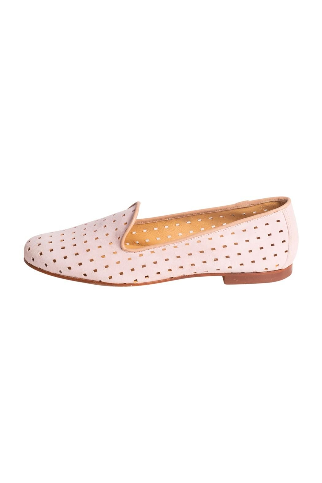Pascucci Suede Perforated Loafers - Main Image