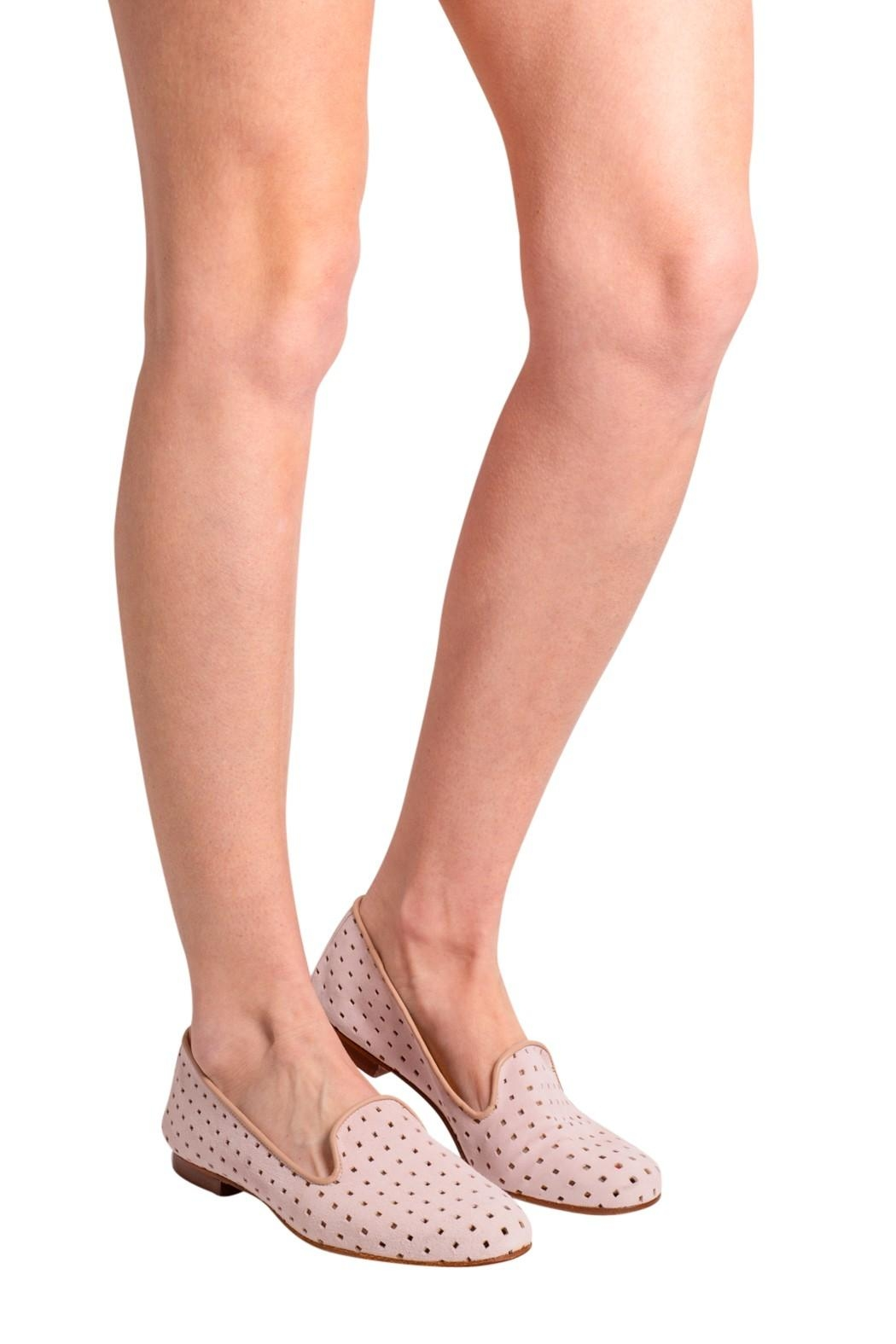 Pascucci Suede Perforated Loafers - Back Cropped Image