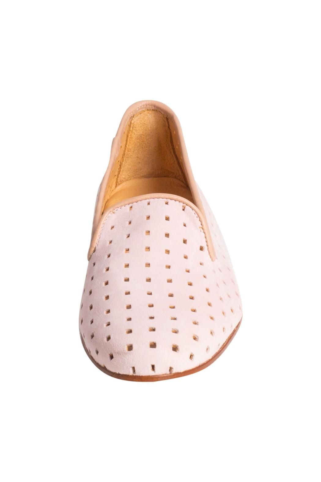 Pascucci Suede Perforated Loafers - Side Cropped Image