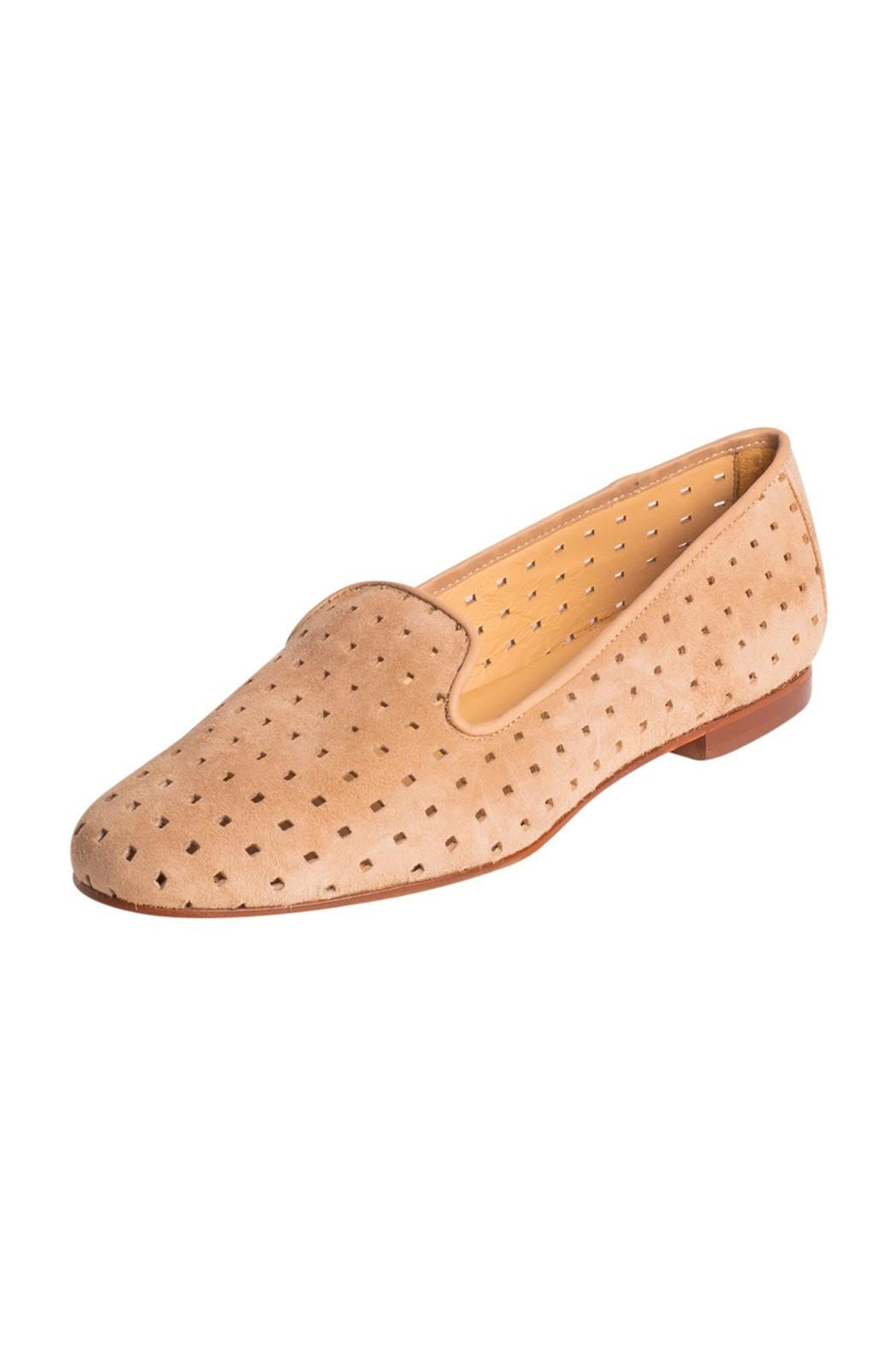 Pascucci Suede Perforated Loafers - Front Full Image