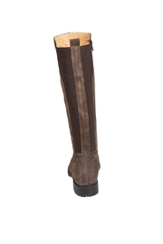 Pascucci Suede Taupe Knee-High-Boots - Back cropped