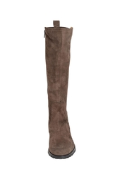 Pascucci Suede Taupe Knee-High-Boots - Side cropped