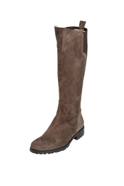 Pascucci Suede Taupe Knee-High-Boots - Front full body