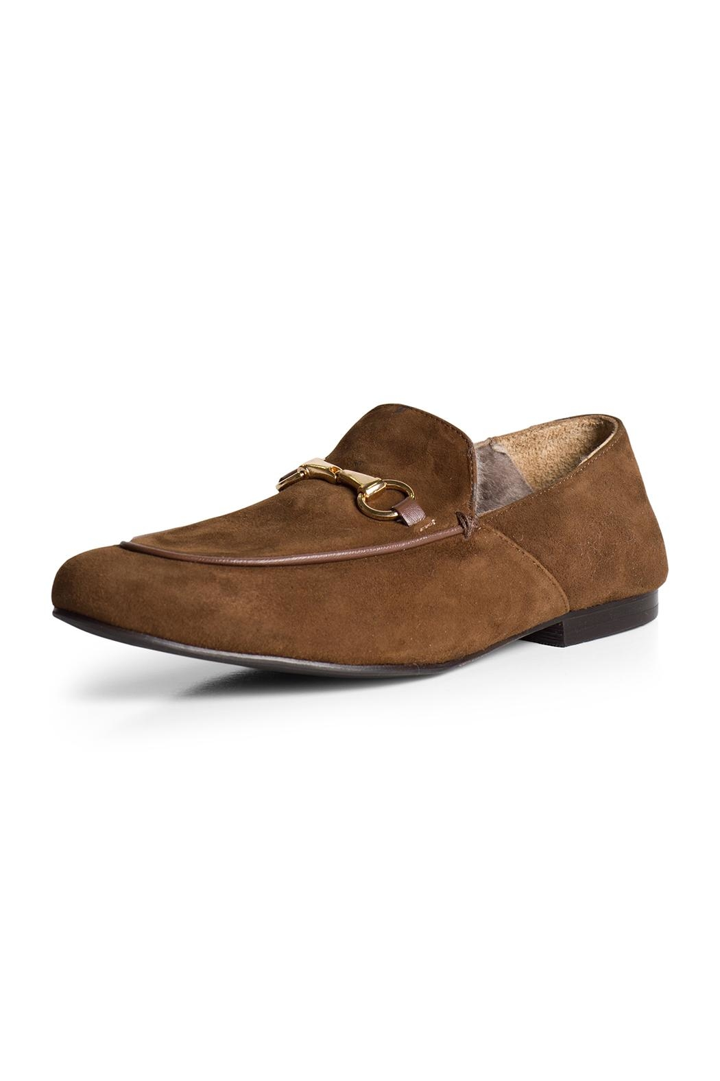Pascucci Suede Wool-Lined Loafer - Front Full Image