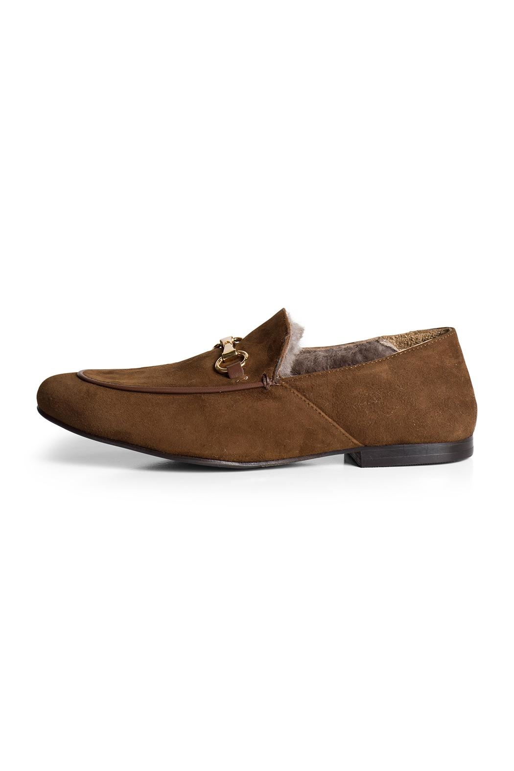 Pascucci Suede Wool-Lined Loafer - Main Image