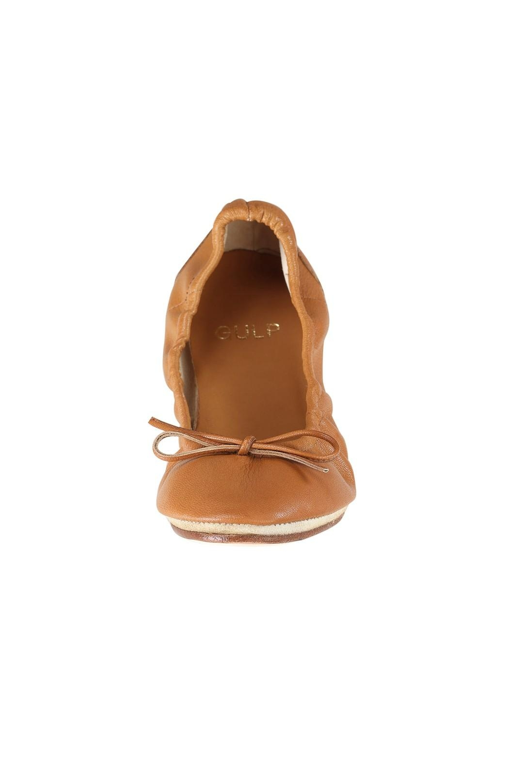 Pascucci Tan Ballet Flats - Side Cropped Image