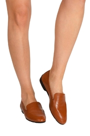 Pascucci Tan Leather Loafer - Back cropped
