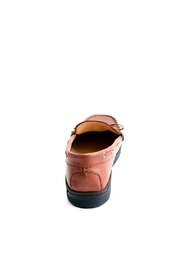 Pascucci Tan Leather Loafer - Side cropped