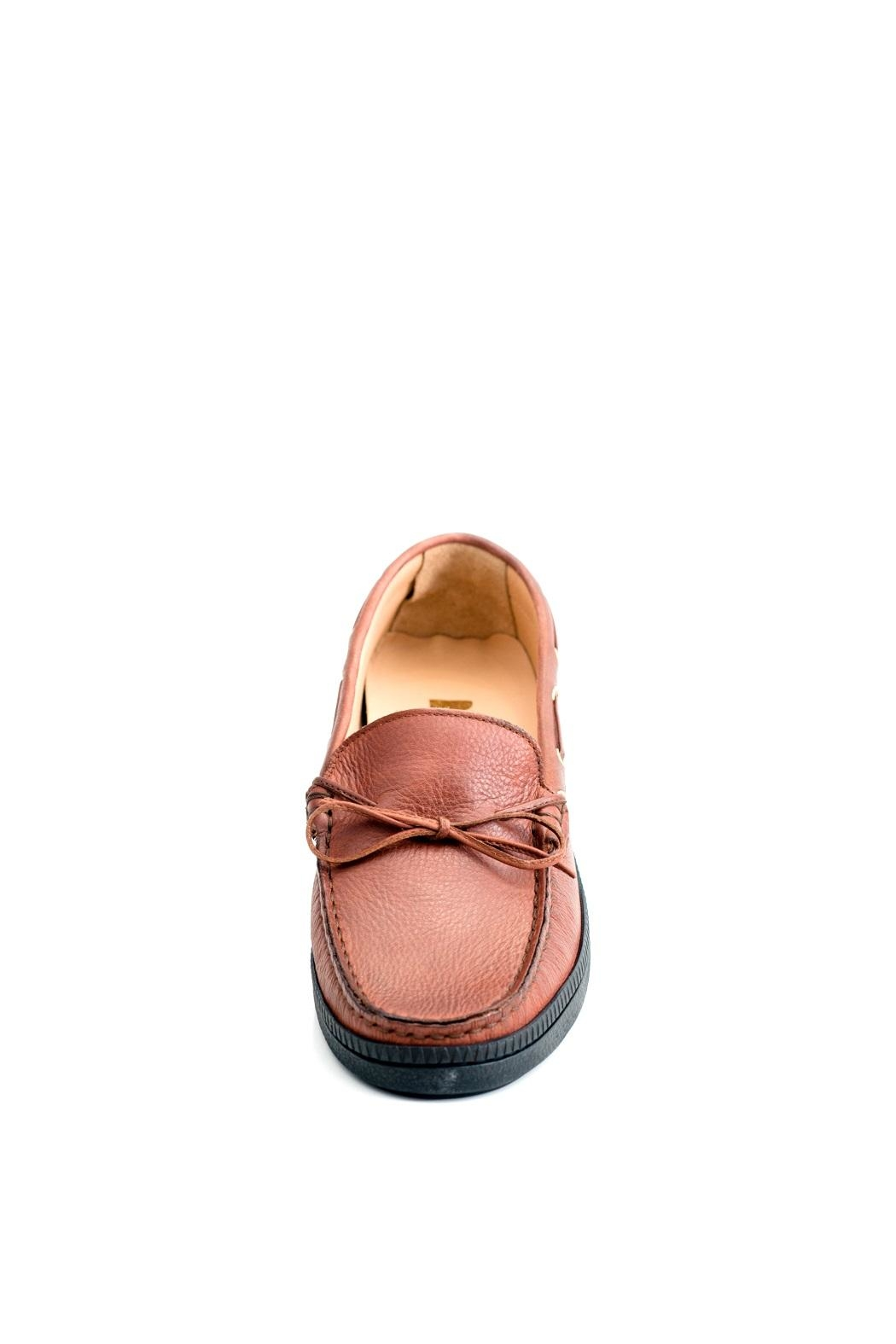 Pascucci Tan Leather Loafer - Front Full Image