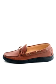 Pascucci Tan Leather Loafer - Front cropped