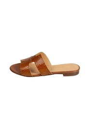Pascucci Tan Snake-Skin H-Slide - Product Mini Image