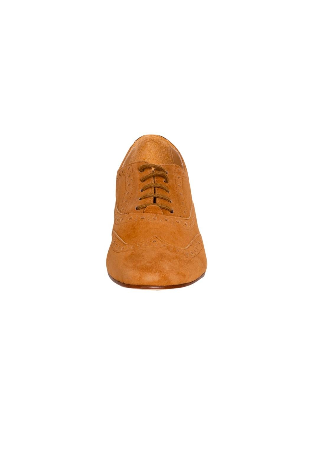 Pascucci Tan Suede Brogues - Side Cropped Image