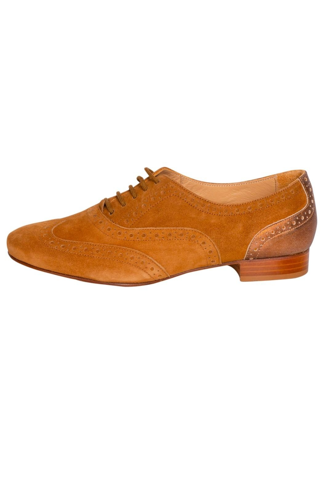 Pascucci Tan Suede Brogues - Main Image