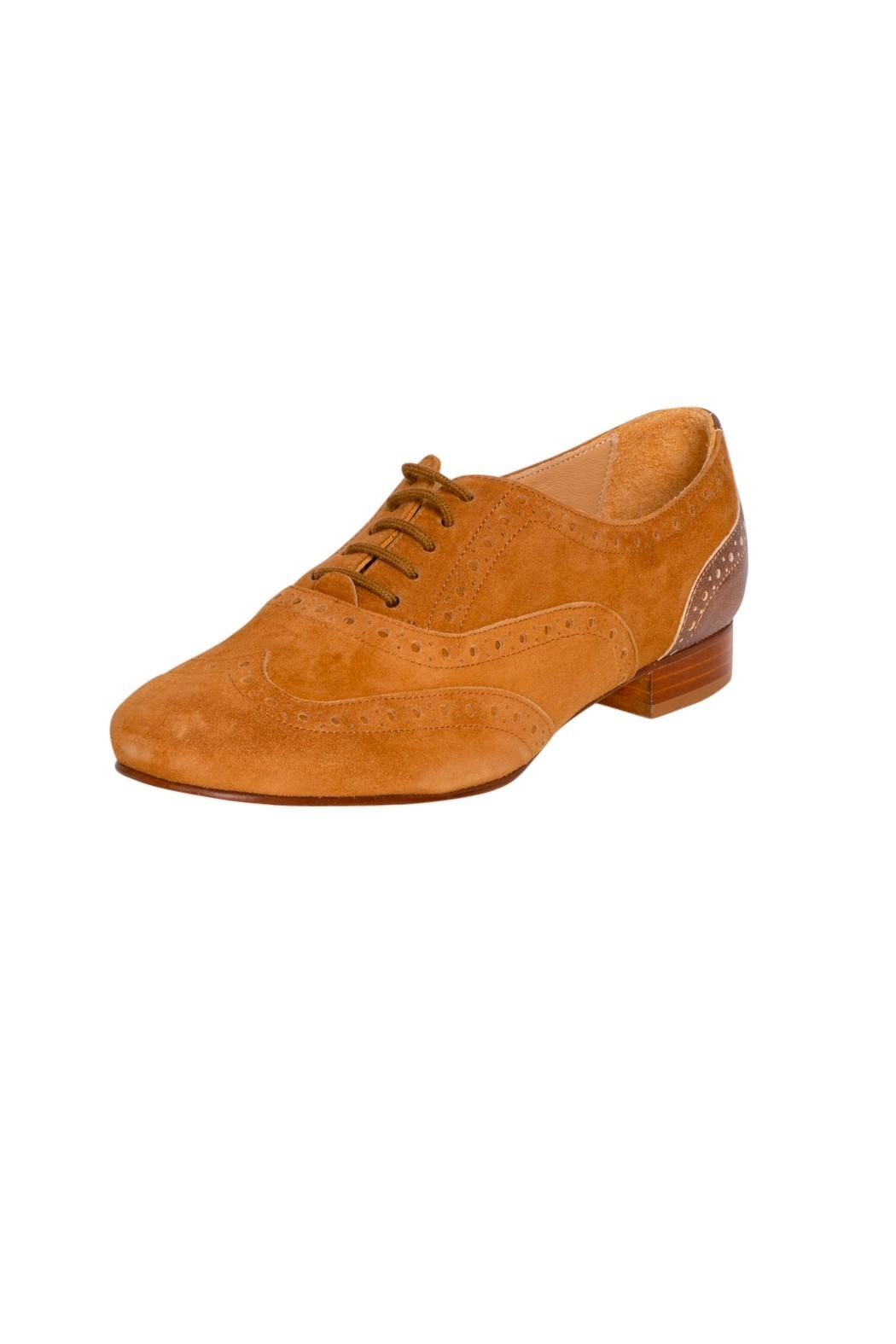 Pascucci Tan Suede Brogues - Front Full Image