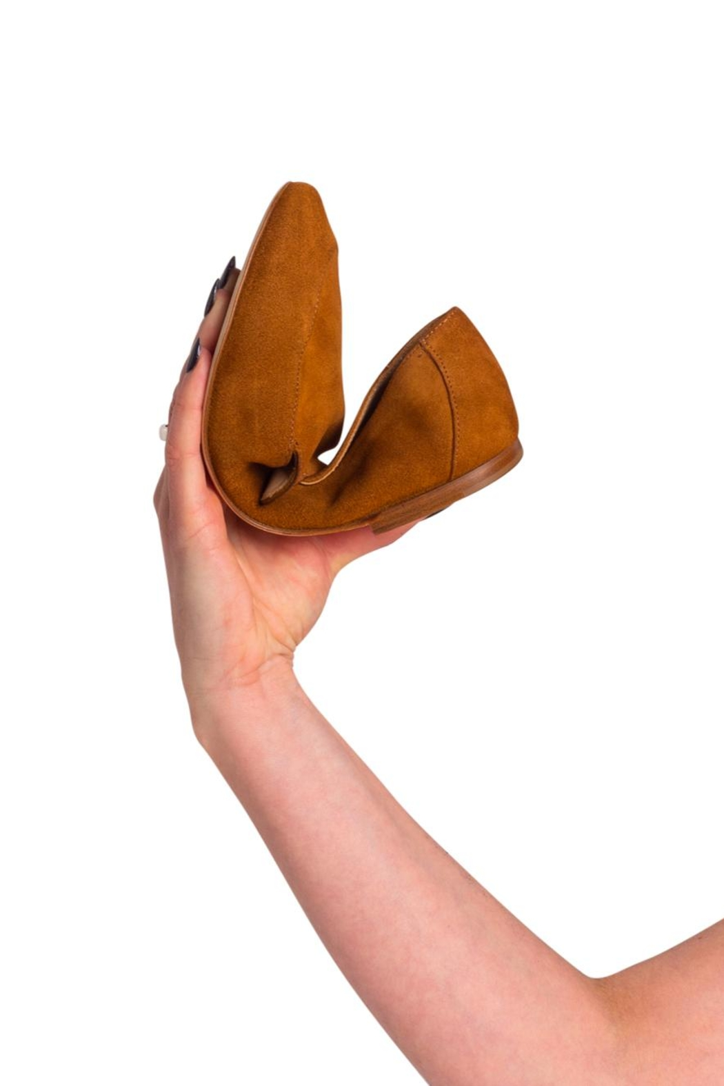 Pascucci Tan Suede Loafers - Back Cropped Image