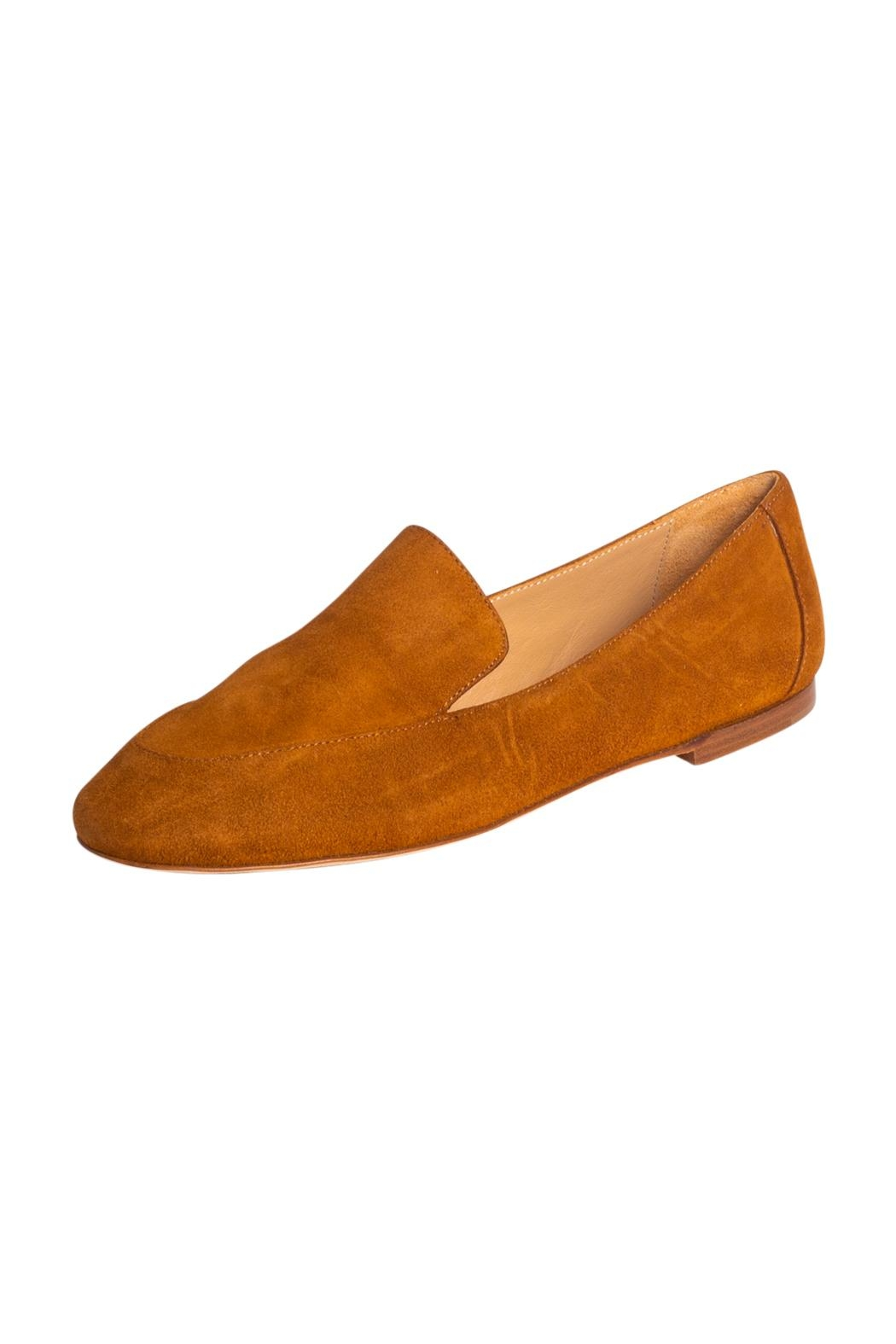 Pascucci Tan Suede Loafers - Front Full Image