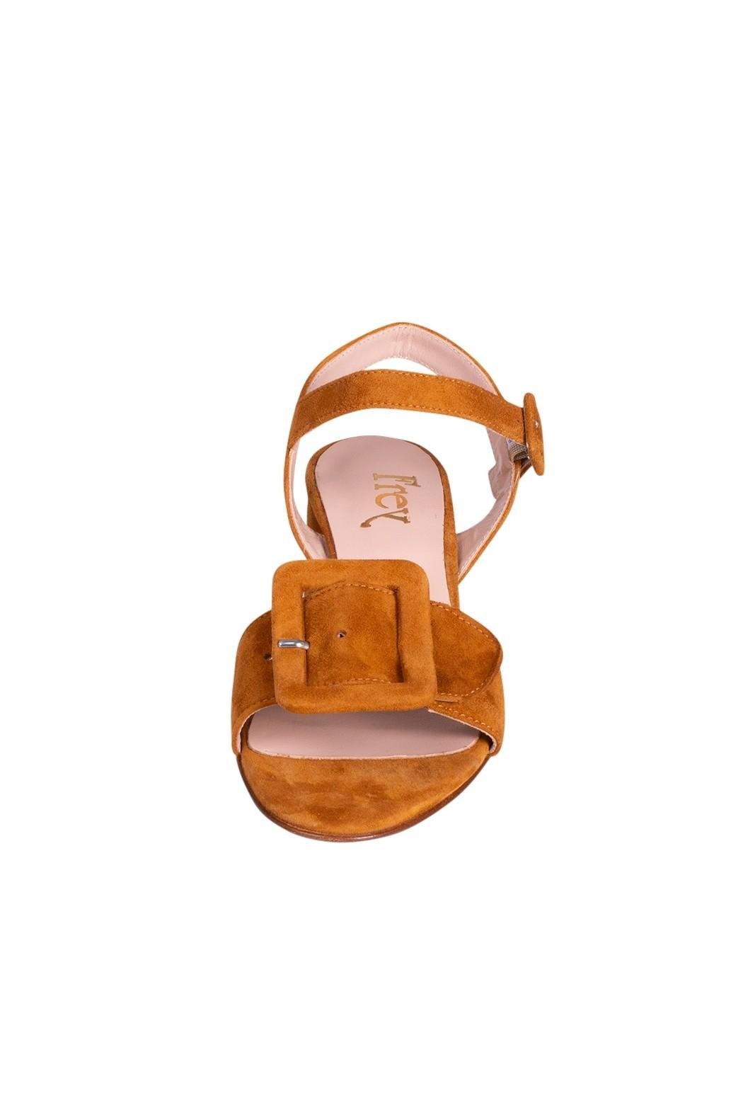 Pascucci Tan Suede Sandals - Side Cropped Image