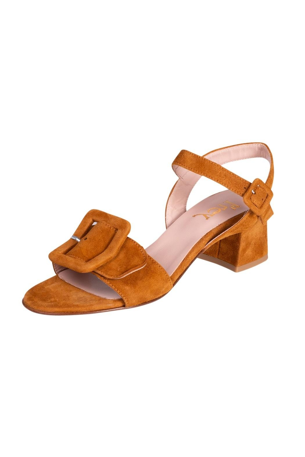 Pascucci Tan Suede Sandals - Front Full Image