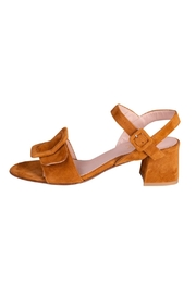 Pascucci Tan Suede Sandals - Front cropped
