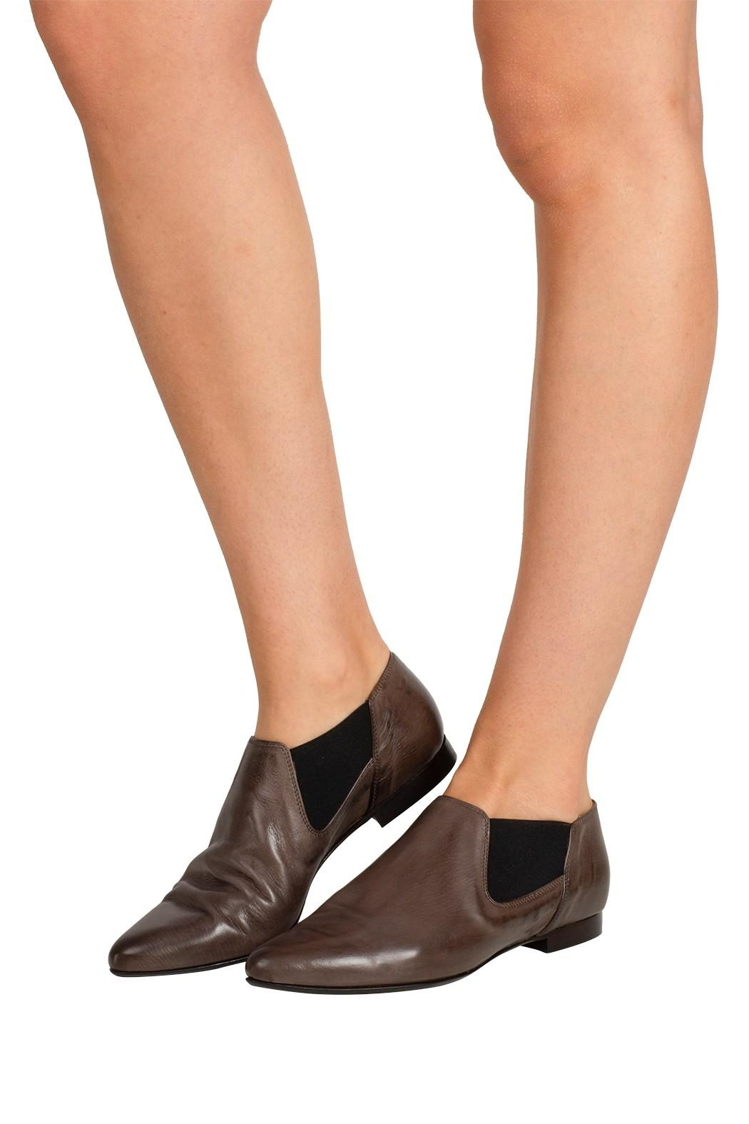 Pascucci Taupe Ankle Bootie - Back Cropped Image