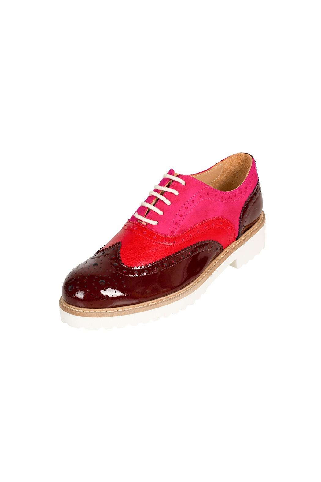 Pascucci Thick-Sole Leather Brogue - Front Full Image