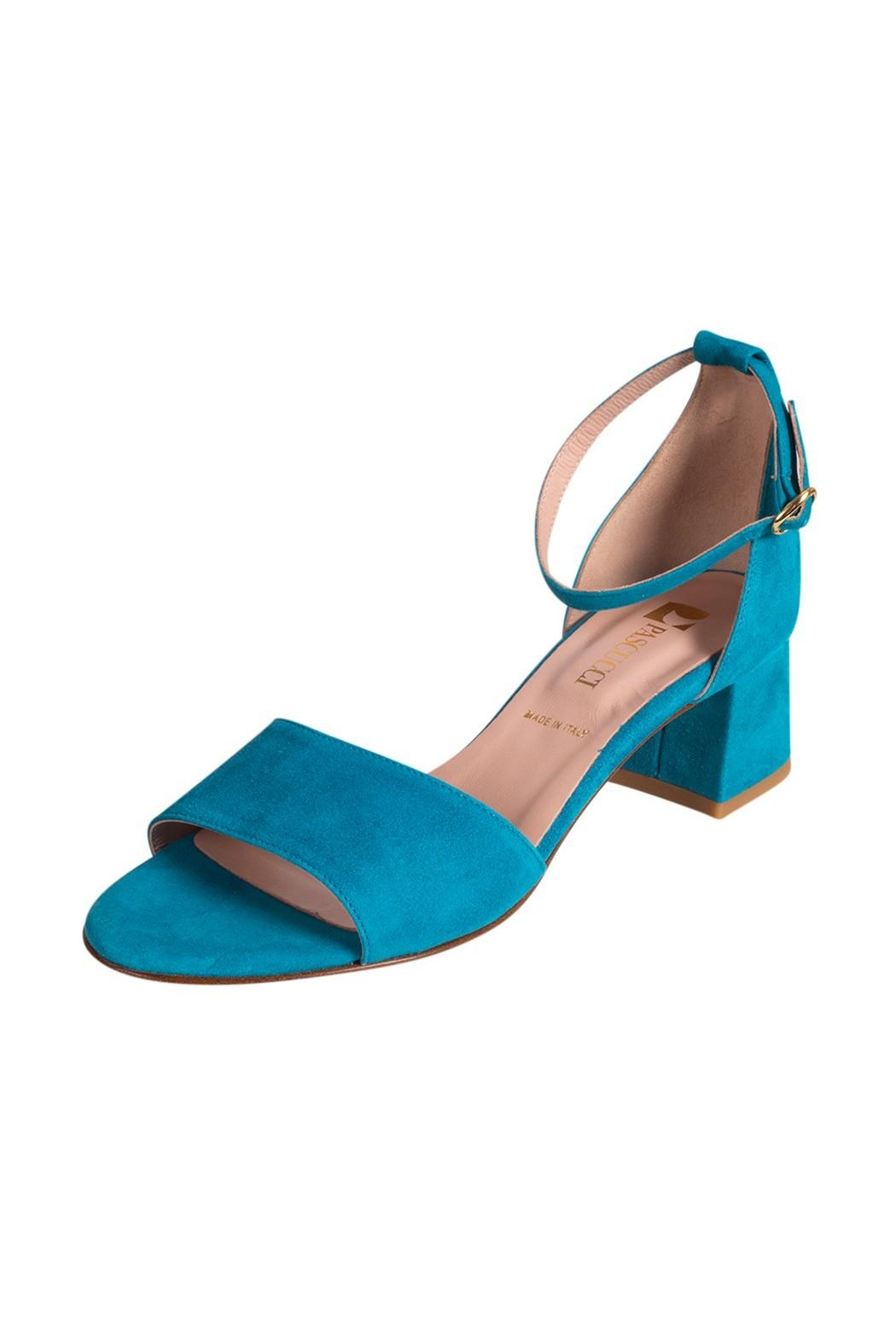 Pascucci Turquoise Heeled Sandal - Front Full Image