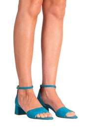 Pascucci Turquoise Heeled Sandal - Back cropped