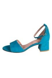 Pascucci Turquoise Heeled Sandal - Front cropped