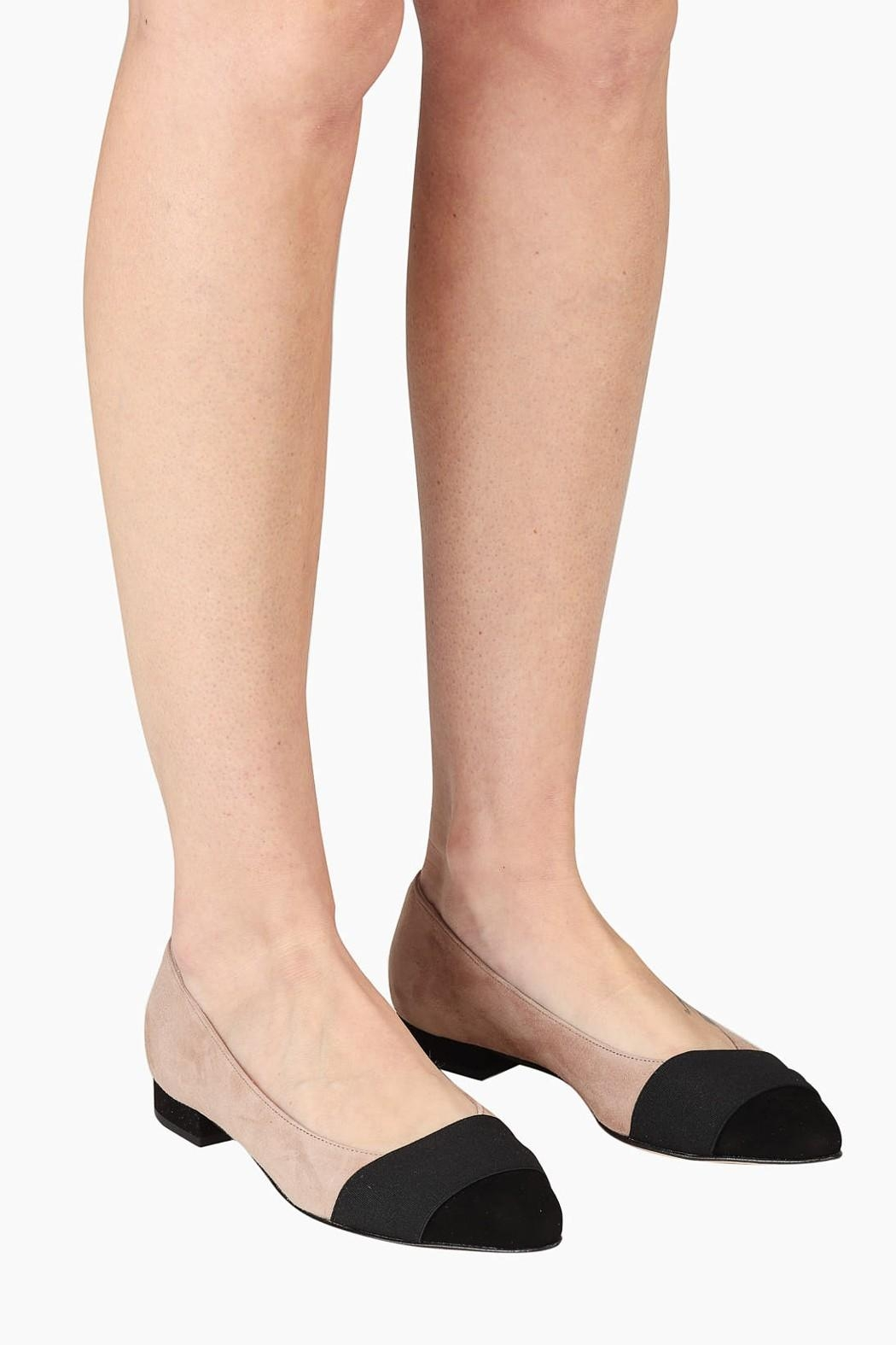 Pascucci Two-Tone Ballet Flats - Back Cropped Image