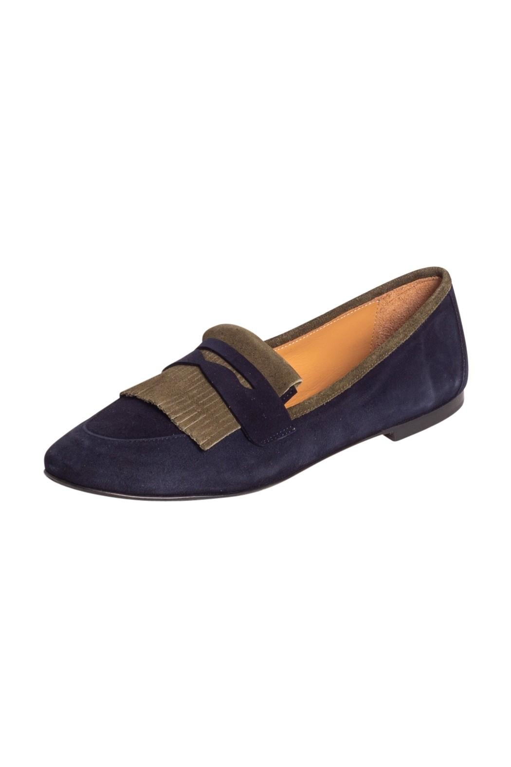 Pascucci Two-Tone Suede Loafer - Front Full Image