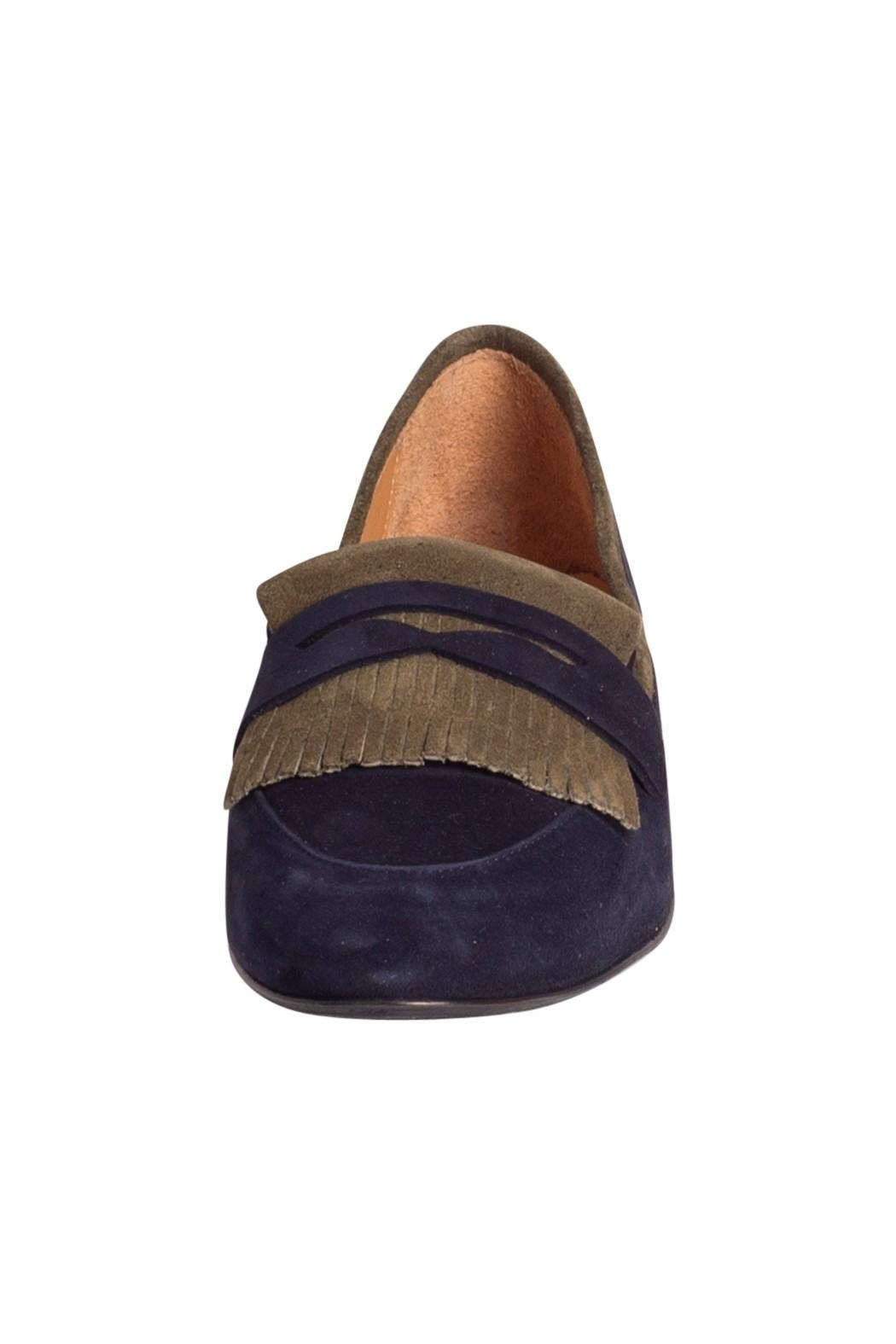 Pascucci Two-Tone Suede Loafer - Back Cropped Image