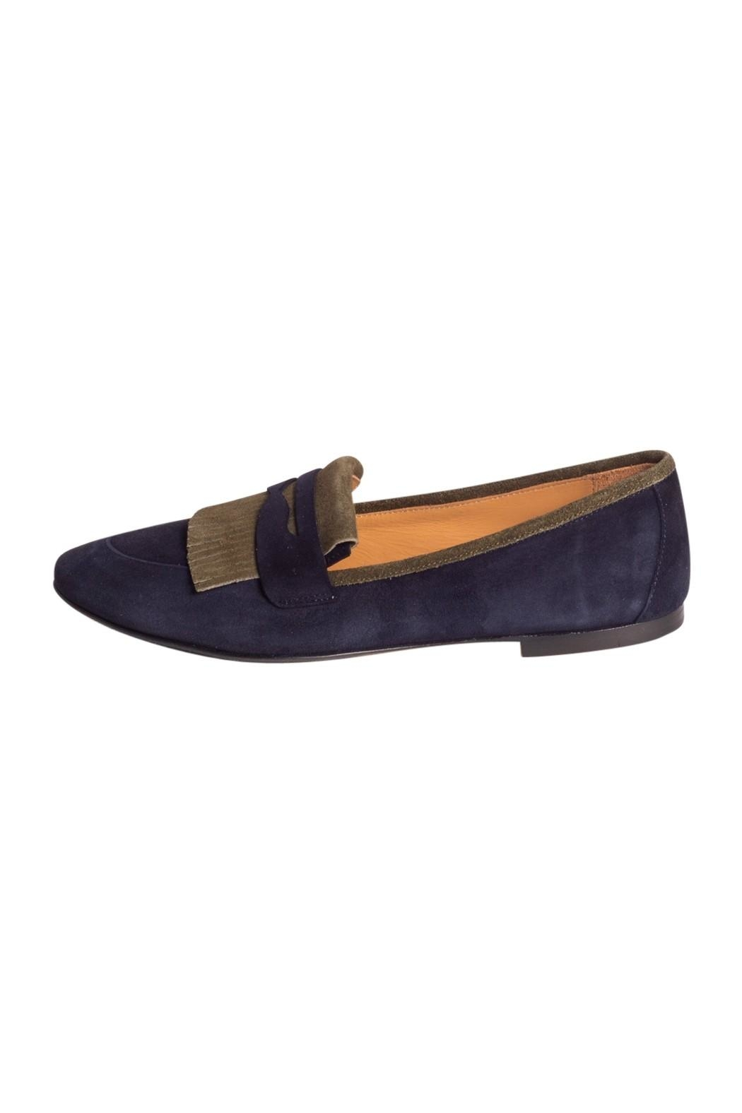 Pascucci Two-Tone Suede Loafer - Main Image