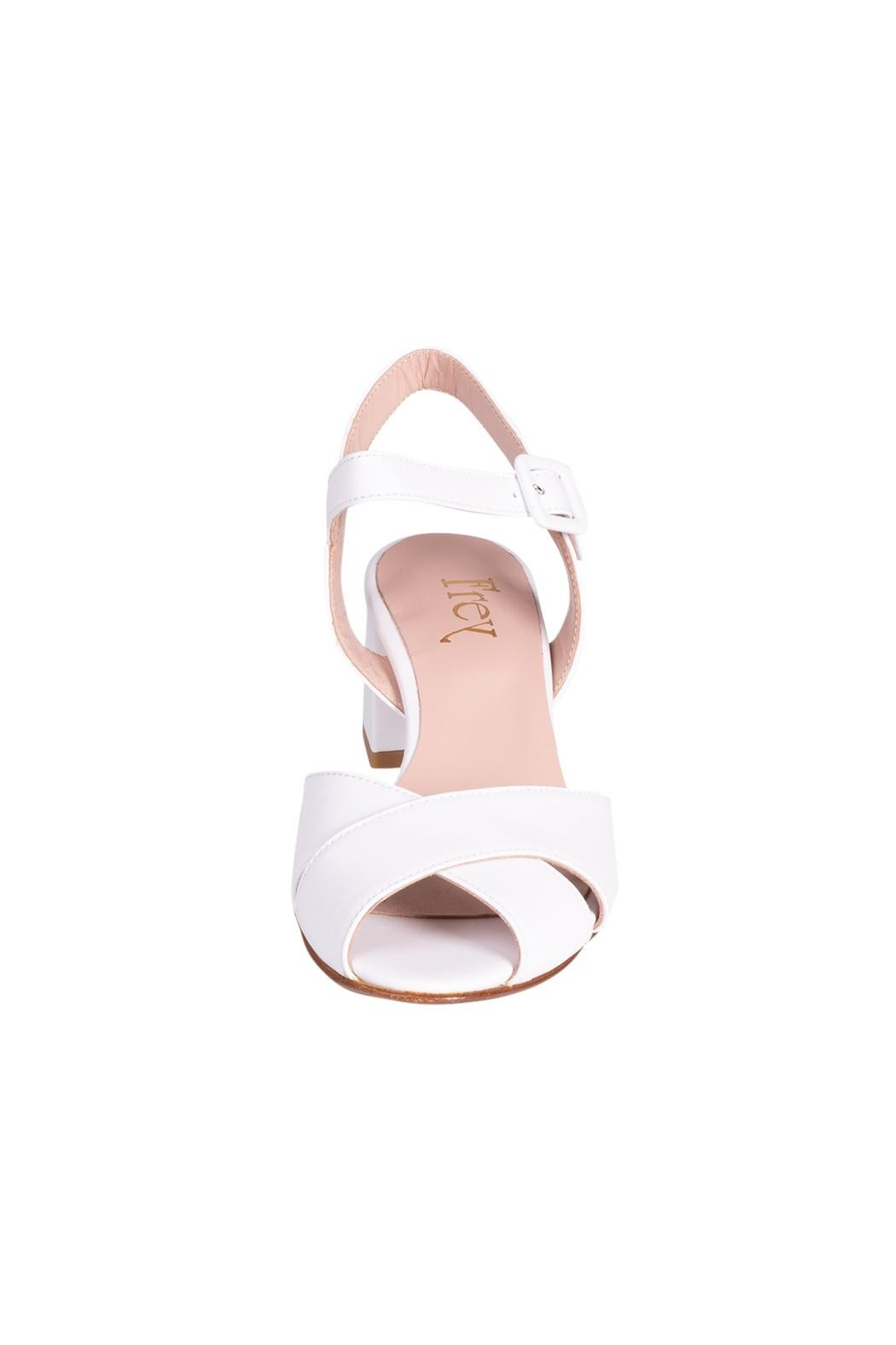 Pascucci White Heeled Sandal - Side Cropped Image