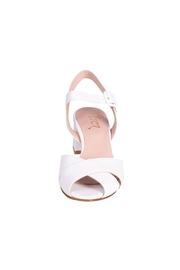 Pascucci White Heeled Sandal - Side cropped