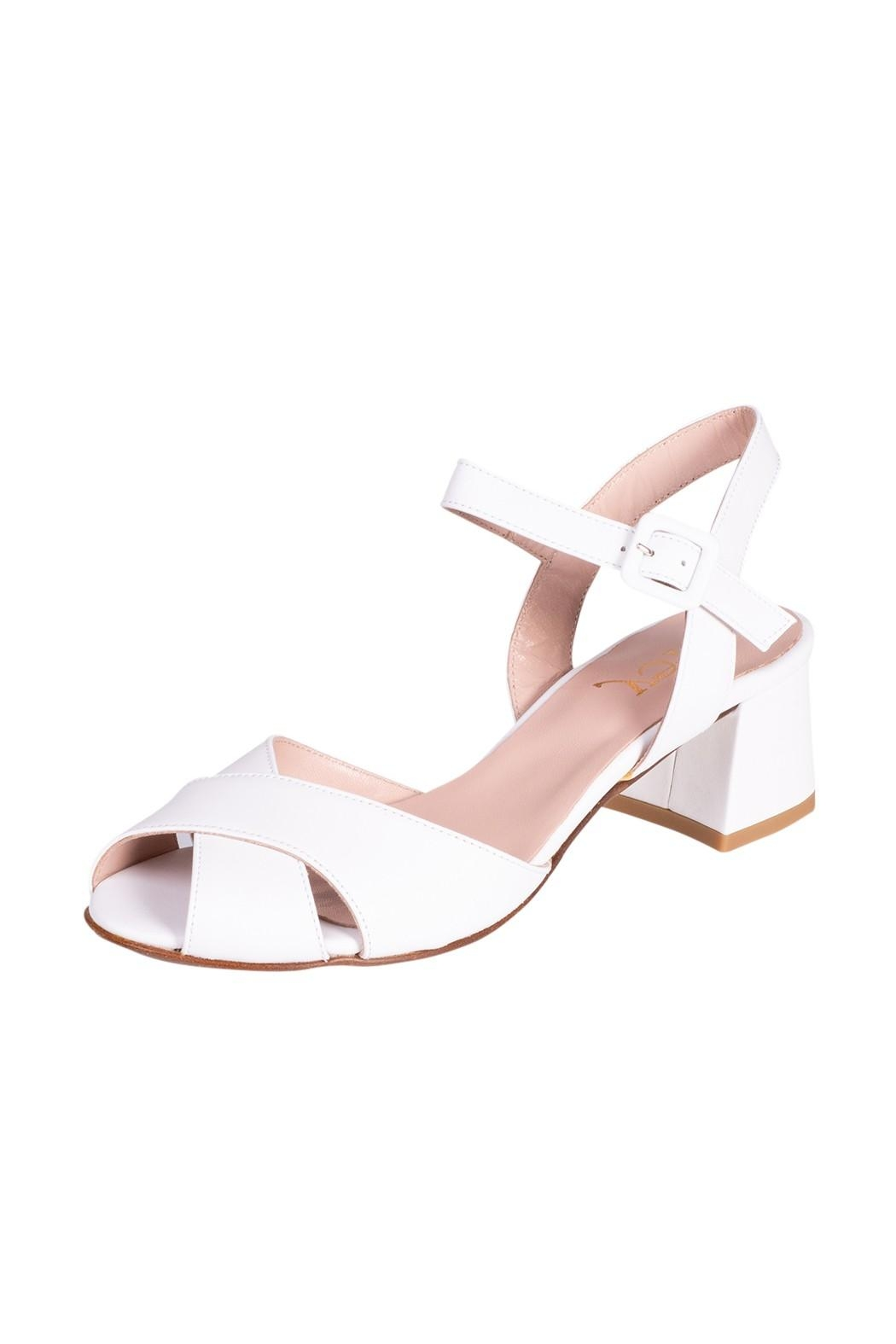 Pascucci White Heeled Sandal - Front Full Image