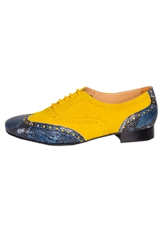 Pascucci Yellow Blue Brogues - Product List Image