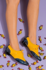 Pascucci Yellow Blue Brogues - Other