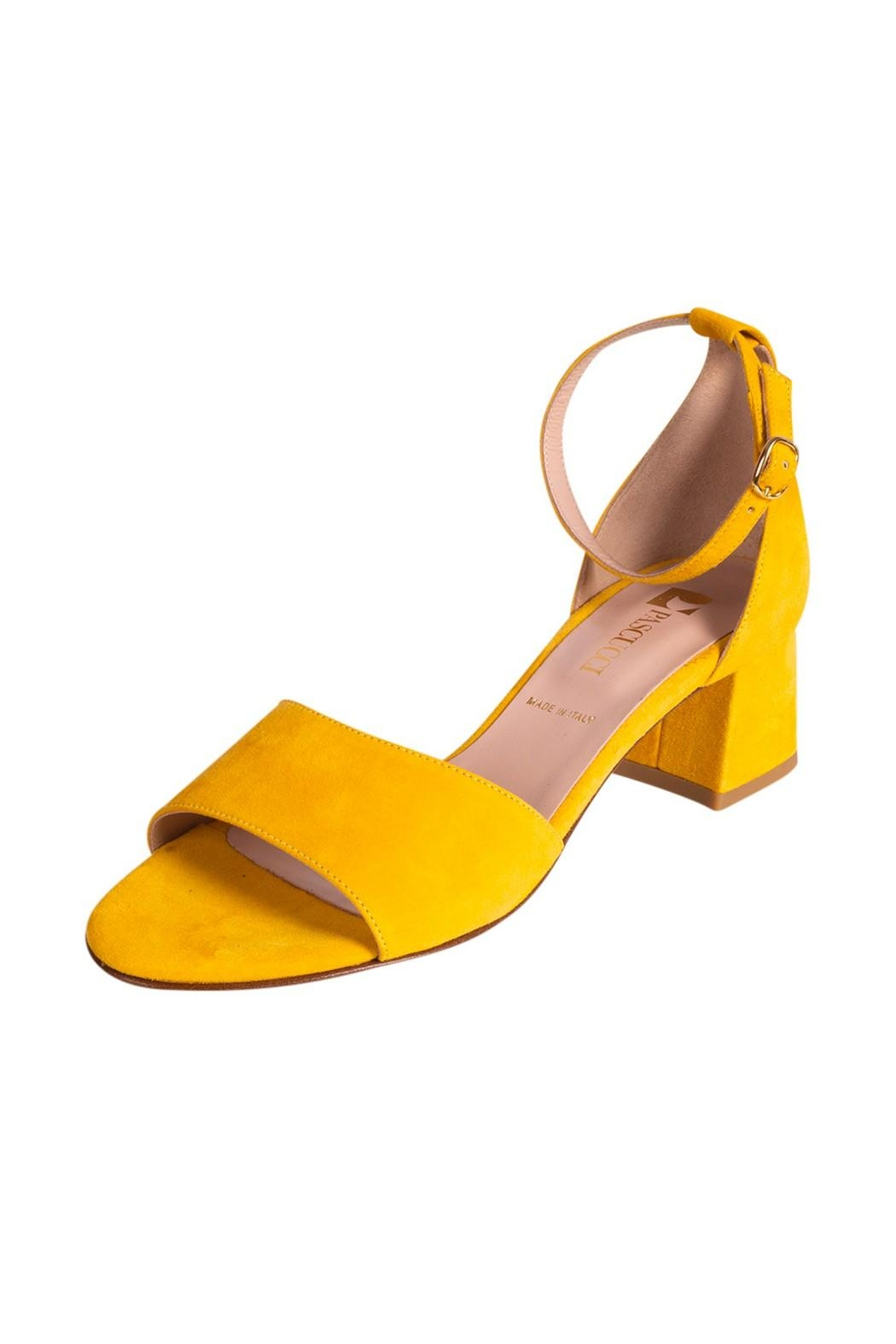 Pascucci Yellow Heeled Sandal - Front Full Image