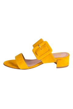 Shoptiques Product: Yellow Heeled Slide
