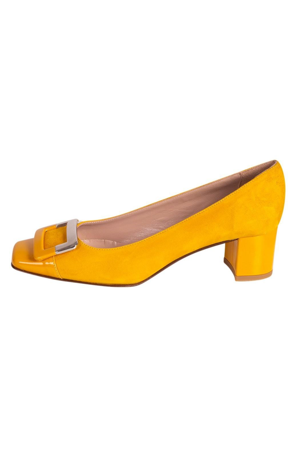 Pascucci Yellow Suede Pump - Main Image