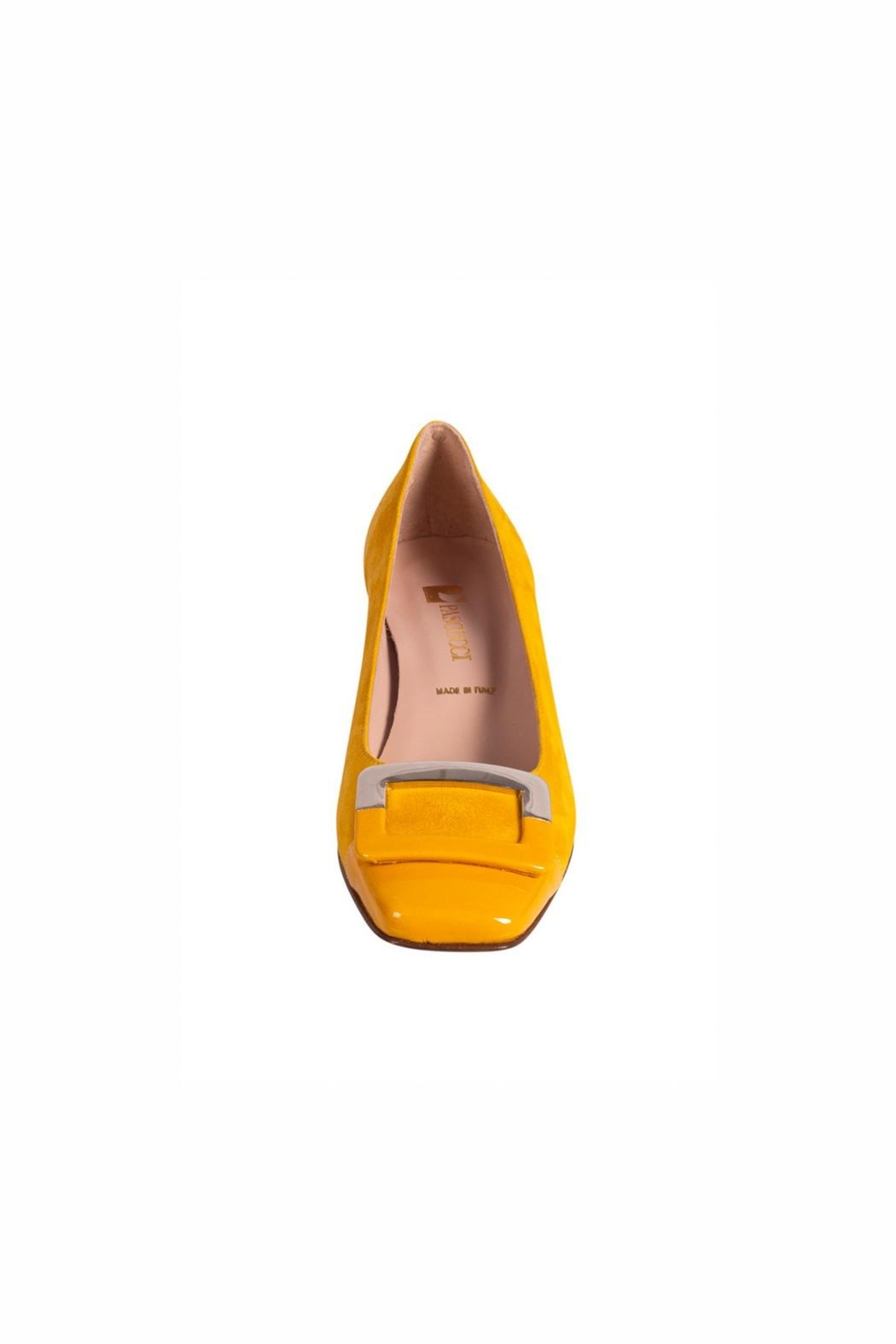 Pascucci Yellow Suede Pump - Side Cropped Image
